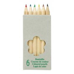 TINY TREE 6 db-os rövid színes ceruza készlet